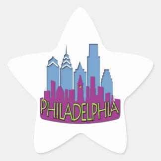 Philly Skyline newwave cool Star Sticker