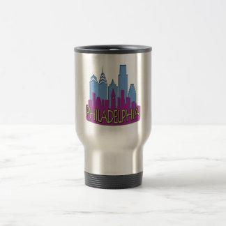 Philly Skyline newwave cool Travel Mug