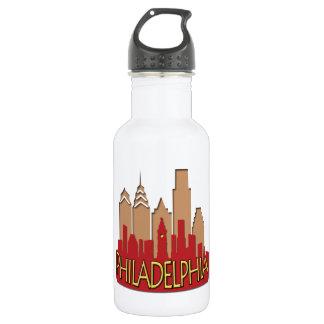 Philly Skyline newwave hot 18oz Water Bottle