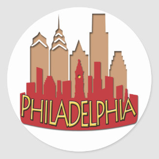 Philly Skyline newwave hot Classic Round Sticker