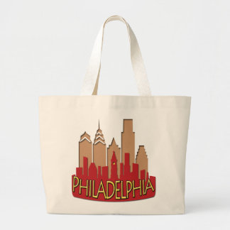 Philly Skyline newwave hot Large Tote Bag