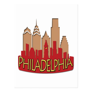 Philly Skyline newwave hot Post Cards