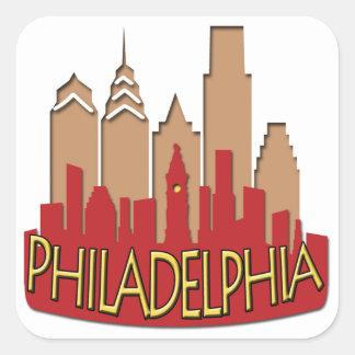 Philly Skyline newwave hot Square Sticker
