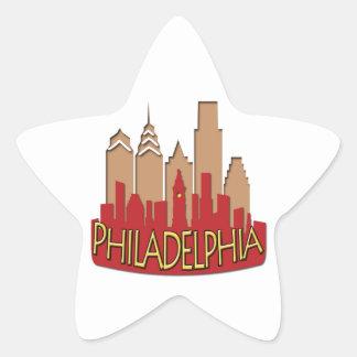 Philly Skyline newwave hot Star Sticker