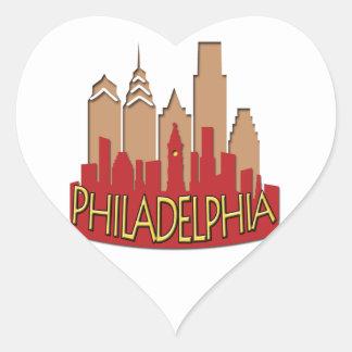 Philly Skyline newwave hot Heart Sticker