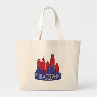 Philly Skyline newwave patriot Large Tote Bag