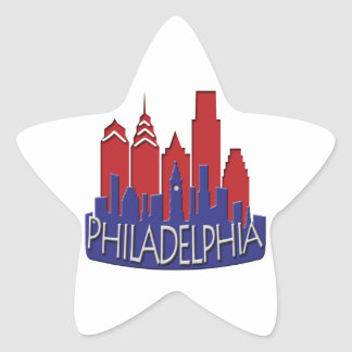 Philly Skyline newwave patriot Star Sticker