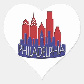 Philly Skyline newwave patriot Heart Sticker