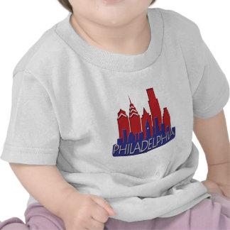 Philly Skyline newwave patriot T-shirts