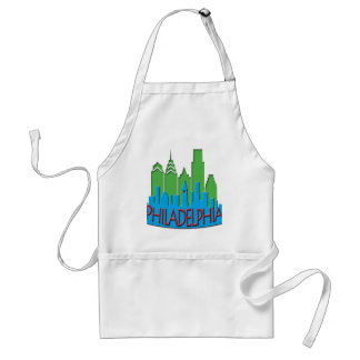 Philly Skyline newwave primary Adult Apron