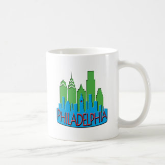 Philly Skyline newwave primary Coffee Mug