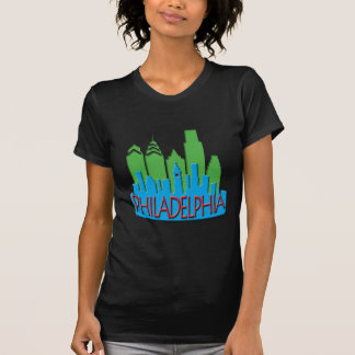 Philly Skyline newwave primary T-shirt