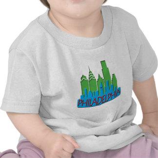 Philly Skyline newwave primary Tee Shirts