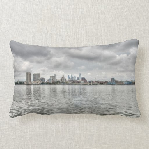 Philly skyline pillow