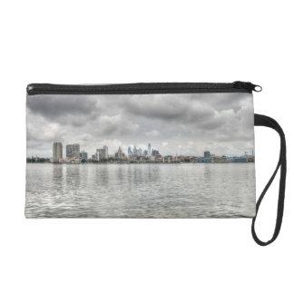 Philly skyline wristlet purse