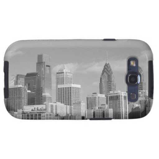 Philly skyscrapers black and white samsung galaxy SIII case