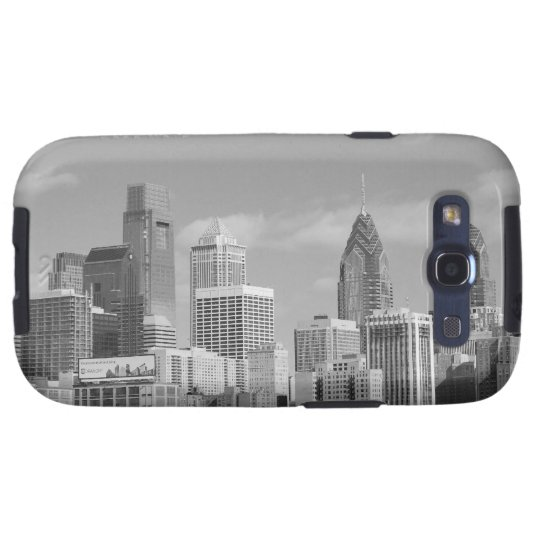 Philly skyscrapers black and white galaxy SIII case