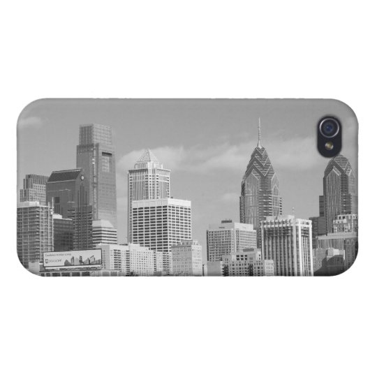Philly skyscrapers black and white iPhone 4 covers