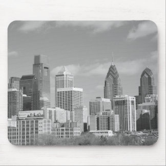 Philly skyscrapers black and white mousepad