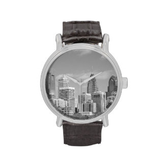 Philly skyscrapers black and white wrist watches