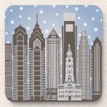 Philly Snowflakes Beverage Coasters