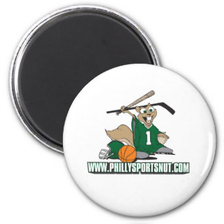 Philly Sports Nut 2 Inch Round Magnet