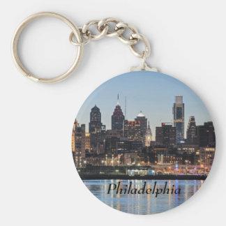 Philly sunset basic round button keychain