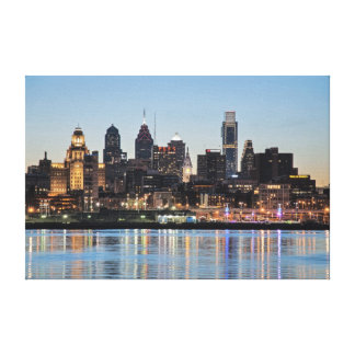 Philly sunset canvas print