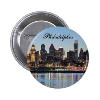 Philly sunset pinback button