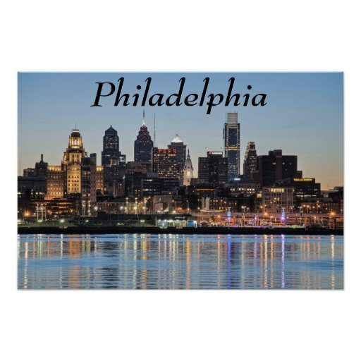 Philly sunset posters