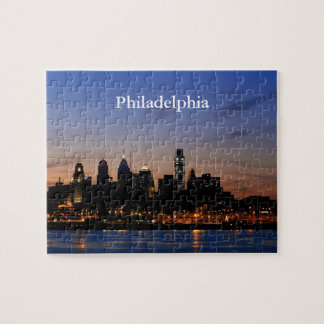 Philly Sunset Skyline Puzzle