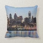 Philly sunset throw pillow