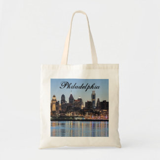 Philly sunset tote bag