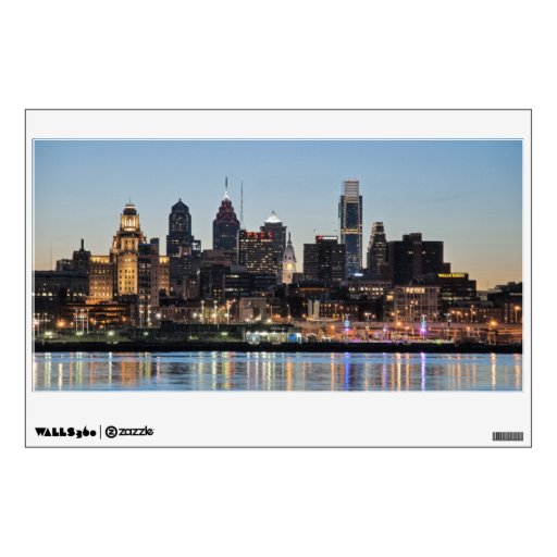 Philly sunset wall graphic