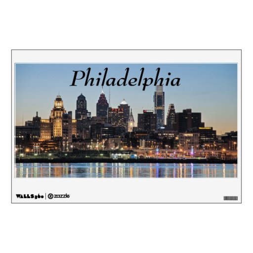 Philly sunset wall graphics