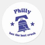 Philly tiene la mejor grieta pegatina redonda