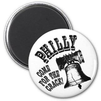 ¡Philly - venido para la grieta! Imán Redondo 5 Cm