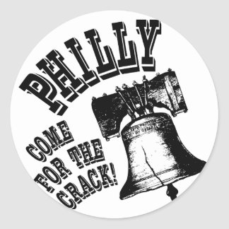 ¡Philly - venido para la grieta! Pegatina Redonda
