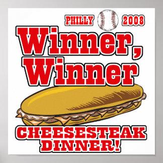 Philly Winner Cheesesteak Dinner Poster