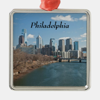 Philly winter metal ornament