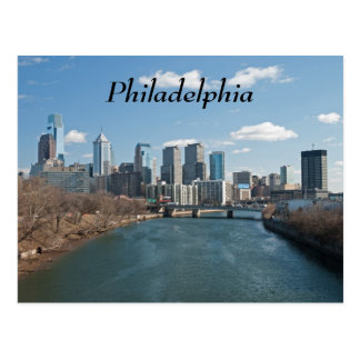 Philly winter postcard