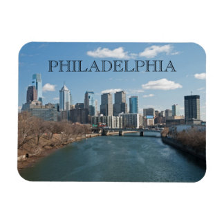 Philly winter rectangular photo magnet
