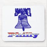 Philly y Liberty Bell Alfombrillas De Raton