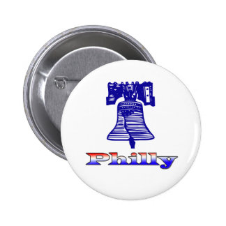 Philly y Liberty Bell Pin Redondo 5 Cm