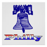 Philly y Liberty Bell Poster