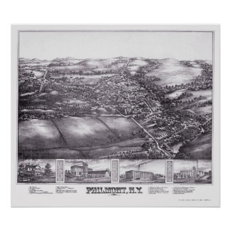 Philmont, NY Panoramic Map - 1881 Poster