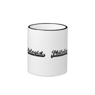 Philologist Classic Job Design Ringer Coffee Mug