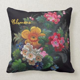 Philomena Victorian Bouquet Throw Pillow