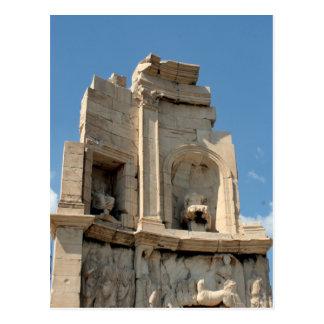 philopappos ancient postcard
