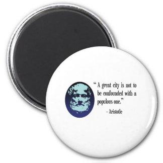 Philosopher Aristotle. A great city fridge magnet